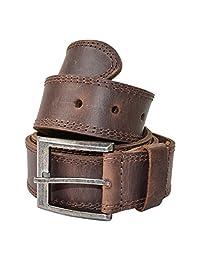 Cinturon para Hombre de Piel Doble Costura Hecho a Mano por Hide & Drink :: Whisky
