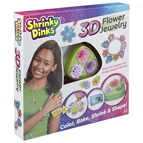 (Shrinky Dinks 3D Flower Jewelry)