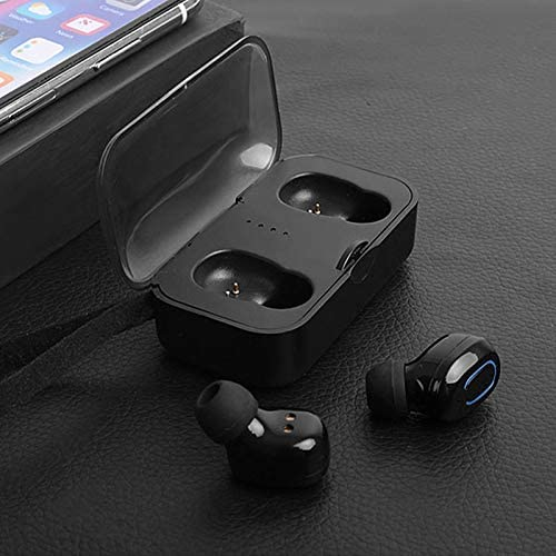 Sprint4Deals Wireless Headphones T18 TWS Stereo True Wireless Bluetooth Earbuds with Mic in Ear Bass Headset for Smartphones (T18-Black)