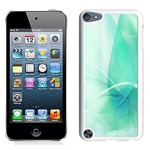 Fashion Custom Designed Cover Case For iPod 5 Apple Green White Phone Case