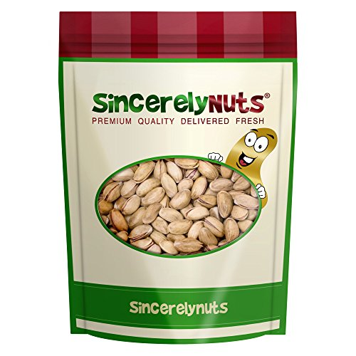 Sincerely Nuts Turkish Pistachios Roasted & Salted in Shell - Five Lbs. Bag - Full of Flavor, Crunchily Delicious - Control Your Calories - Kosher Certified ()
