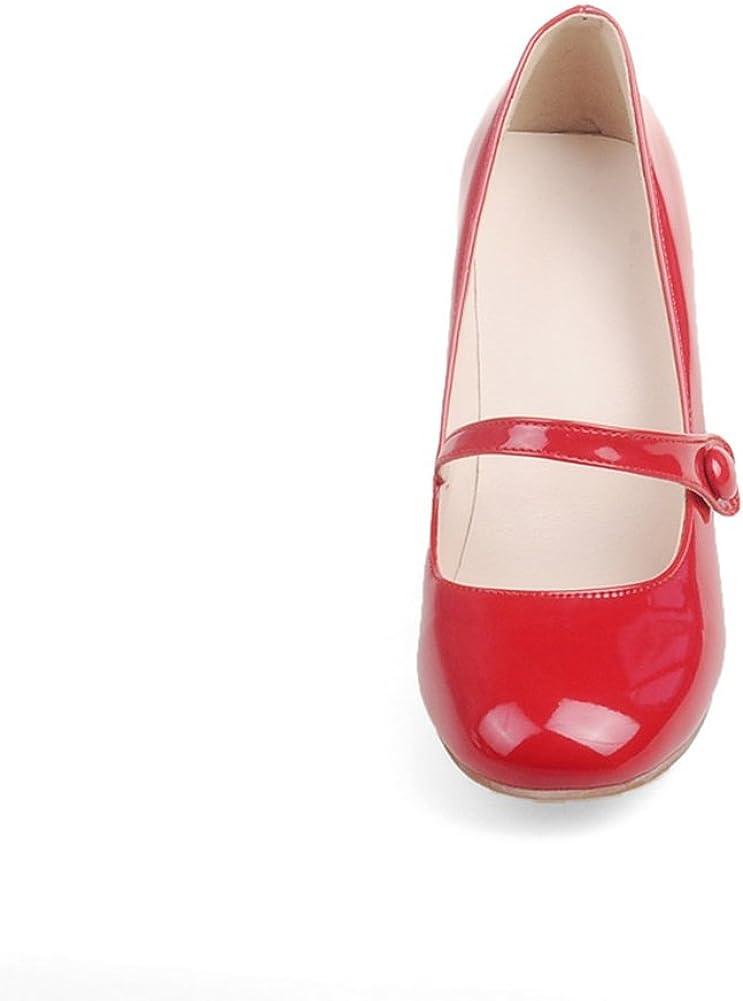 Y2Y Studio Womens Ladies Mid Block Heel Mary Jane Office Work Formal Strap Dolly Shoes Size