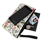 Coin Purse Colorful Flower Women Fastener Canvas Purses TravelCustomized Holder