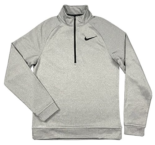 NIKE Men's Therma Fit Quarter-Zip Pullover, Small (Carbon Heather Gray)