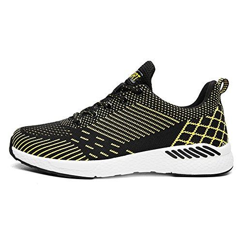 Style Summer da Paio Un Giallo Sneakers da di Athletic Running Mesh e Scarpe Traspirante Flying Sneaker Uomo Donna Cricket Casual Tessuto da q8Fw0q