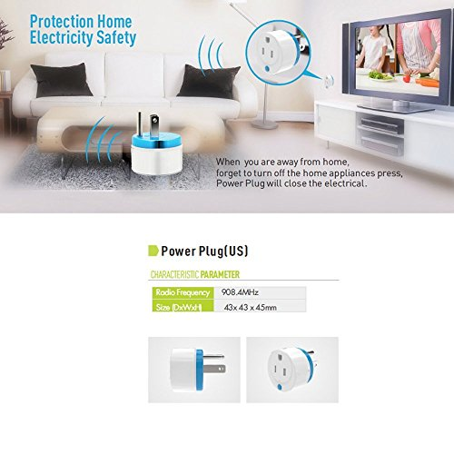 HAOZEE Z Wave Plus Mini Smart Power Plug Home Automation Zwave Outlet,Z Wave Range Extender,Energy Monitoring,Works with Wink,SmartThings & more by HAOZEE (Image #2)
