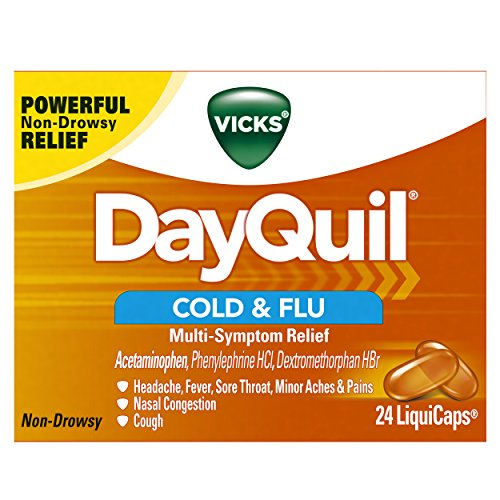 Vicks DayQuil Cough Cold & Flu Relief, 24 LiquiCaps (Packaging May Vary)