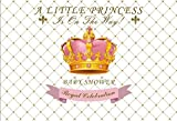 OFILA Baby Shower Backdrop 8x6.5ft Girls Princess Baby Shower Party Photography Background Princess Crown Royal Celebration Events Baby Shower Video Studio Props