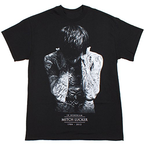 Rockstar Reo Men's Mitch Lucker In Memoriam Suicide Silence T-Shirt Small Black (Suicide Silence T Shirt Pull The Trigger)