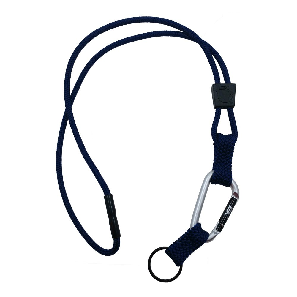 EK USA Carabiner Reel Lanyard, for ID Cards, Office ID, Fashion and Badge Holder, Navy