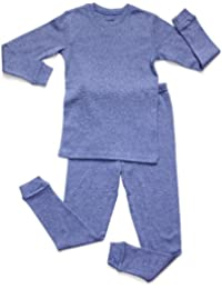 Solid Marled 2 Piece Pajama 100% Cotton (Size 2-5)