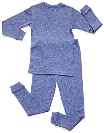Leveret Marled Dk Blue 2 Piece Pajama 2 Years