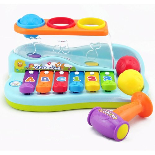 Liberty Imports Rainbow Xylophone Piano Pounding Bench for Kids with Balls and Hammer by Liberty Imports (Image #3)