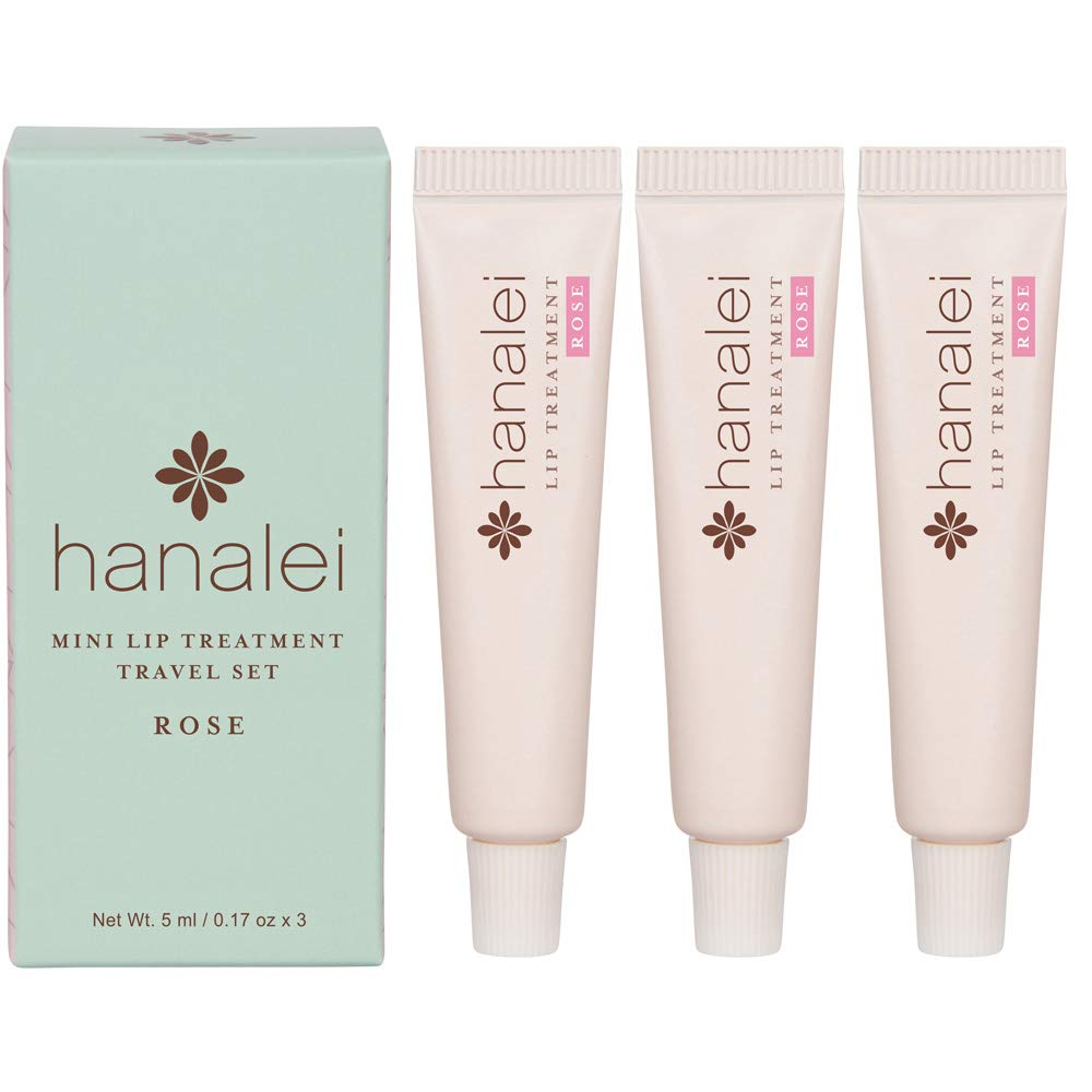 Hanalei lip treatment trio, rose, 3 pack, 5ml LTT-R