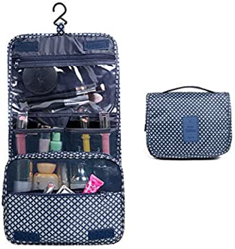 Toiletry Bag, T Tersely Portable Hanging Travel Makeup Organizer Folding Pouch Toiletry Cosmetic Bag with Hanging Hook And Strong Zippers,Folded with Multiple Bags, Waterproof, Durable For Vacation