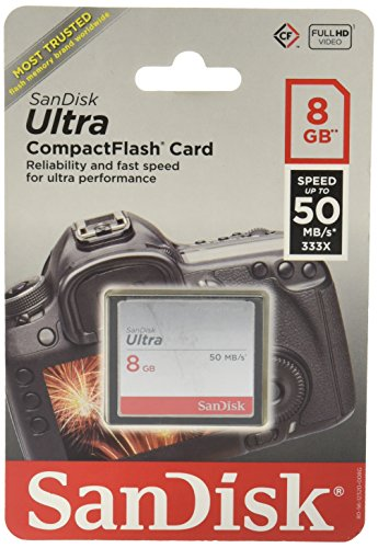 Sandisk Ultra Memory CompactFlash SDCFHS 008G A46