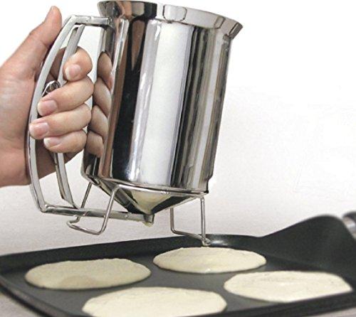 Pancake Batter Dispenser Stainless Steel Perfect Cupcakes Waffles Breakfast, New!!!