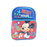 """Backpack - Disney - Mickey Mouse Red Star 16"""" New 676452"""