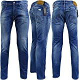 Replay Blue Anbass Stretch Slim Fit Jean/Denim Pants - M914.000.573.240 36/30