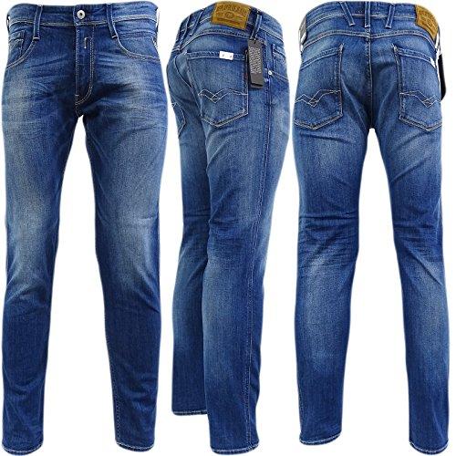 Replay Blue Anbass Stretch Slim Fit Jean/Denim Pants - M914.000.573.240 32/32