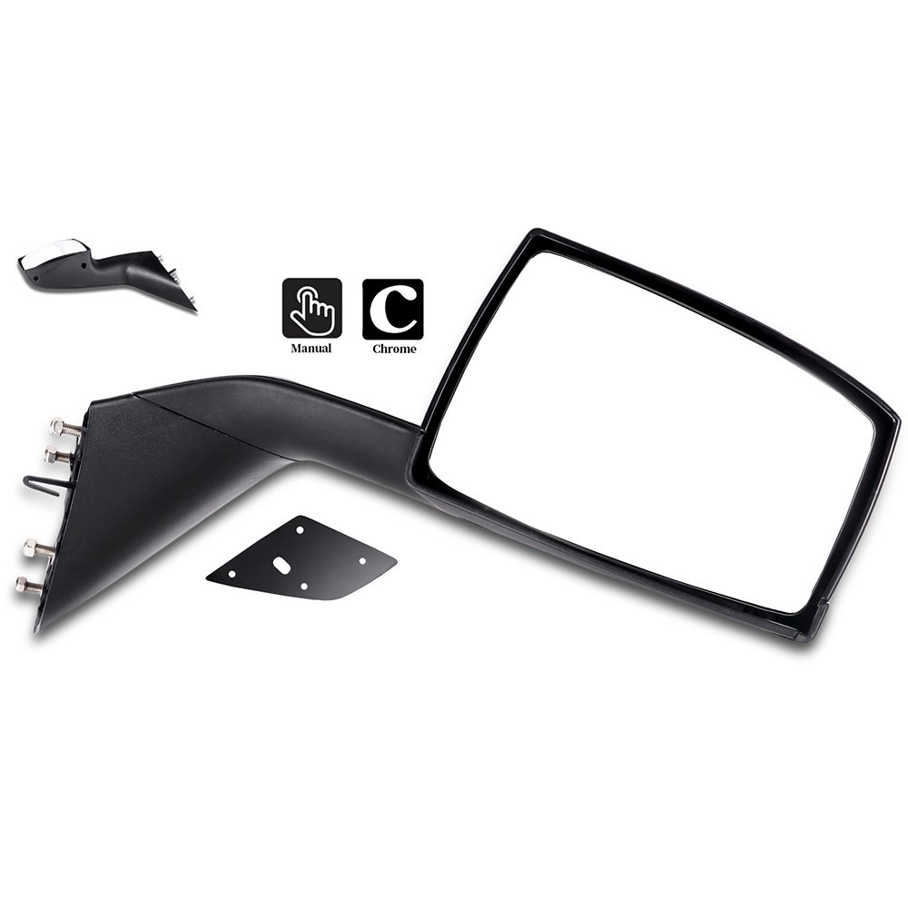 Towing Mirrors ECCPP Black Pair Truck Hood Mirrors Replacement fit for 2004-2016 Volvo VNL 2004 Volvo VN Mounting Plates BHBU0503A1848