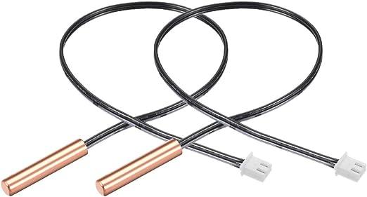 uxcell 2 unidades 100 K NTC sensor de temperatura sensible de cobre para aire acondicionado