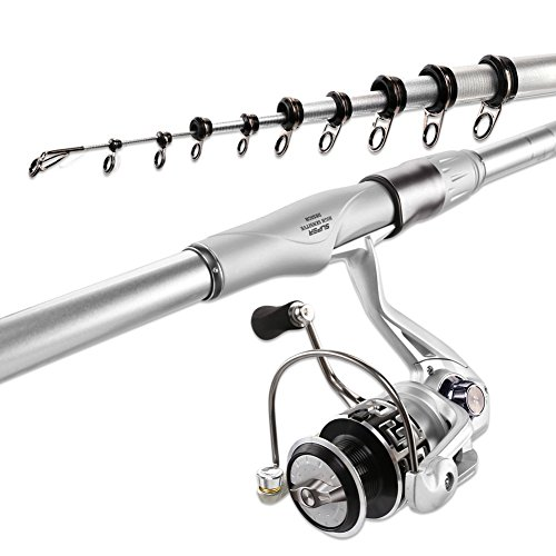 Handing Spinning Rod and Reel Combos Rock Fishing Tackle Telescopic Fishing Rod Pole and Spinning Reels for Bass Trout
