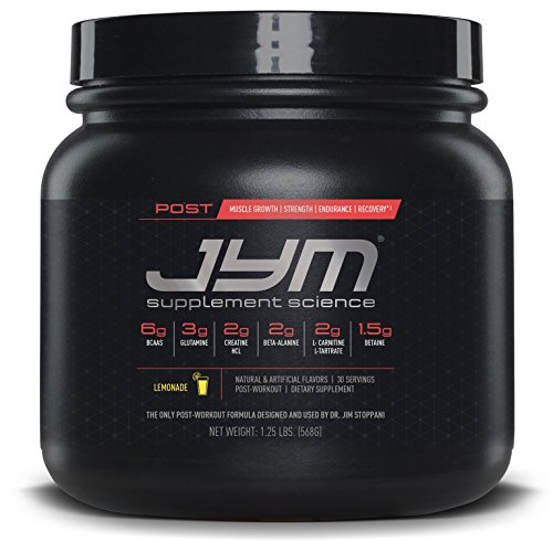 JYM Supplement Science, POST JYM Active Matrix, Post-Workout with BCAA's, Glutamine, Creatine HCL, Beta-Alanine, L-Carnitine L-Tartrate, Betaine, Taurine, and more, Lemonade, 30 - Supplement Glycogen