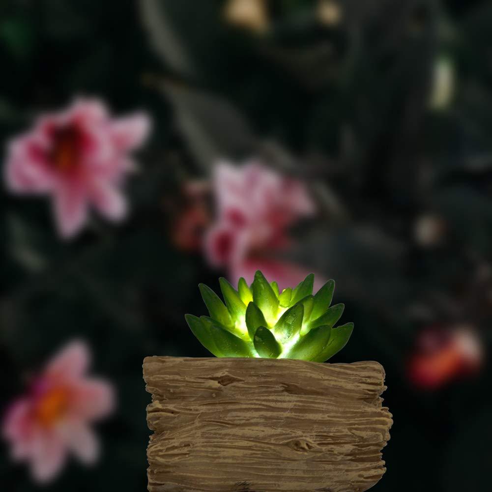 Doolland Luz Solar con suculentas suculentas suculentas Artificiales en Forma de, luz LED Planta Falsa Decorativa de Interior para jardín al Aire Libre Pasillo del Dormitorio Sala de Estar (Amarillo) 8401bf