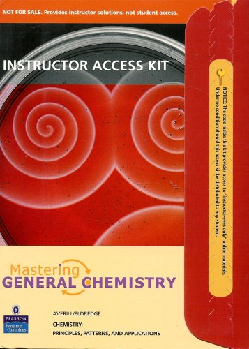 Mastering General Chemistry 0805383166 Instructor Access Kit - Chemistry: Principles, Patterns, and Applications