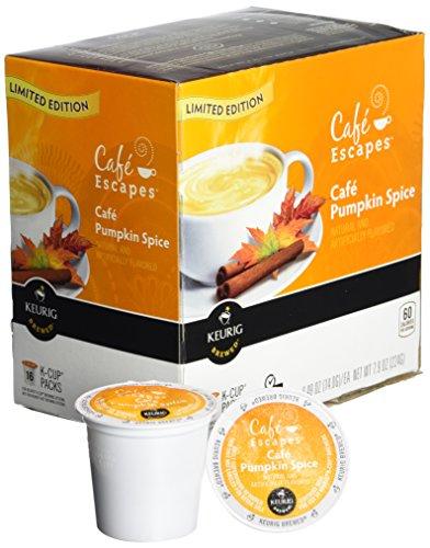 Cafe Escapes Cafe Pumpkin Spice Keurig K Cups Coffee 16