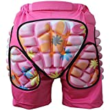 Mounchain Pad Short Pants Breathable Lightweight Hip Butt Protective Gear Guard Drop Resistance EVA Padded Shorts for Ski Skiing Skating Snowboard Cycling Fits for Kids Girl Boy Teens