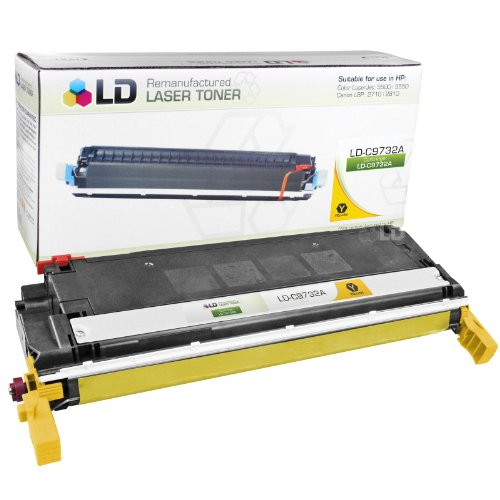 LD Remanufactured Replacement for Hewlett Packard 645A (C9732A) Yellow Toner Cartridge for Color LaserJet 5500, 5500dn, 5500dtn, 5500hdn, 5500n, 5550, 5550dn, 5550dtn, 5550hdn and 5550n (Laser Printer Colour 5550dn)