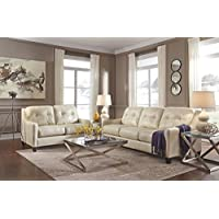 Ashley Furniture Signature Design - OKean Upholstered Leather Sofa - Contemporary - Galaxy