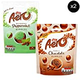 Nestles Aero Bubbles Milk Chocolate Pouch 102g x2 + Nestles Aero Bubbles Peppermint Chocolate Pouch 102g x2