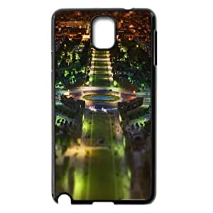 [Paris Series] Samsung Galaxy Note 3 Cases Paris Panorama at Night Tilt Shift, Dustin - Black