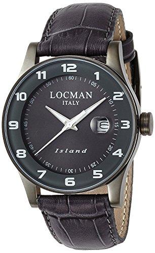 LOCMAN watch Island Quartz date leather belt unisex 0600 0600GUGY-GYW2PSA