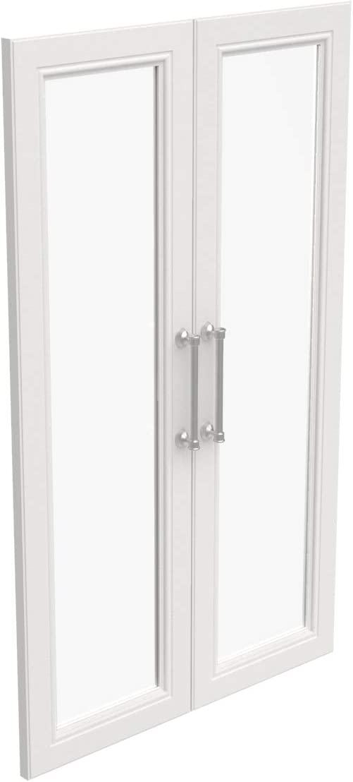 ClosetMaid 4595 Modular Closet Storage Glass 2-Door Kit, White