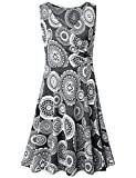 MOQIVGI Modest Dresses for Women,Ladies Spring Summer Fashion 2018 Prime Boho V Neck Wrap Pleated Party Elegant Midi Sleeveless Business Casual Office Work Dress Gray Large