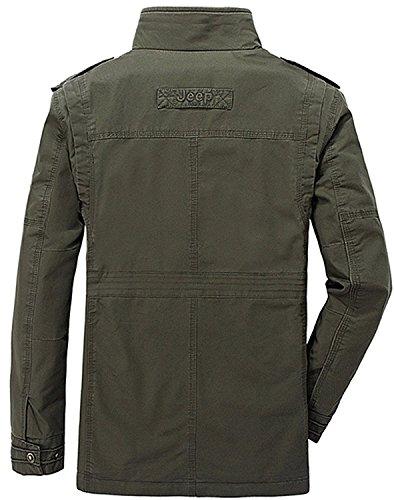Pocket Chaqueta Negro Parka de OLD Transitional de Otoño Hombre Clásico Multi Militar KING® Ejército Algodón de Estilo Chaqueta Cargo qSx4aFnw5