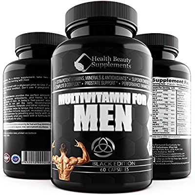 * MEN'S MEGA MULTIVITAMIN * Daily Multi Vitamin For MEN – 4 Phase Support With – Vitamins & Minerals - Prostate Support – Antioxidants – Increase Sex Drive – Libido Booster – Immune System - Strength