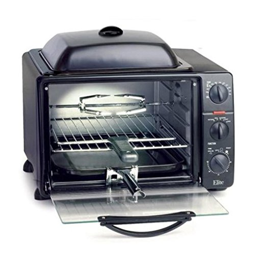 Elite Pro 23-Liter Toaster Oven with Rotisserie & Grill/G...