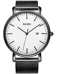 Men's Fashion Minimalist Wrist Watch Analog Deep Gray...