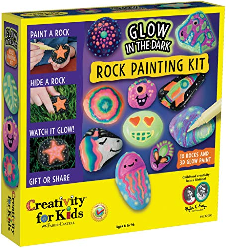 Halloween Pumpkin Ideas Horse (Creativity for Kids Glow in The Dark Rock Painting Kit - Paint 10 Rocks with Water Resistant Glow Paint,)
