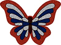 Licenses Products US Butterfly Glitter Sticker
