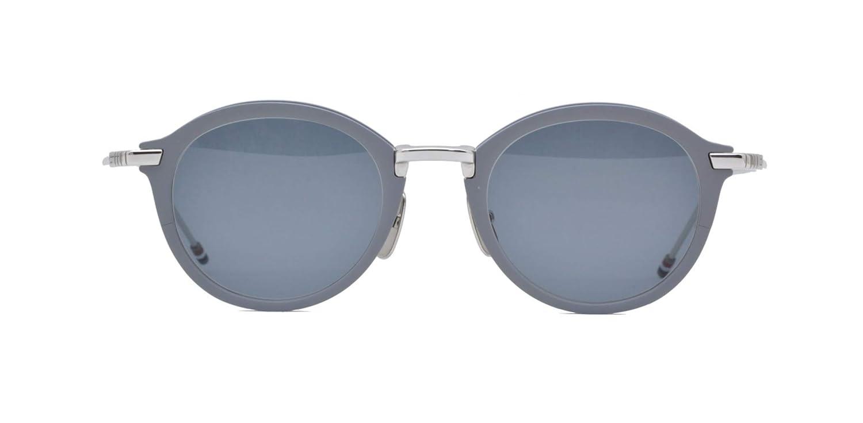 af60eda8387 Sunglasses THOM BROWNE TB 110 B-T-GRY-SLV Matte Grey-Silver w Dark Mirror-AR  at Amazon Men s Clothing store