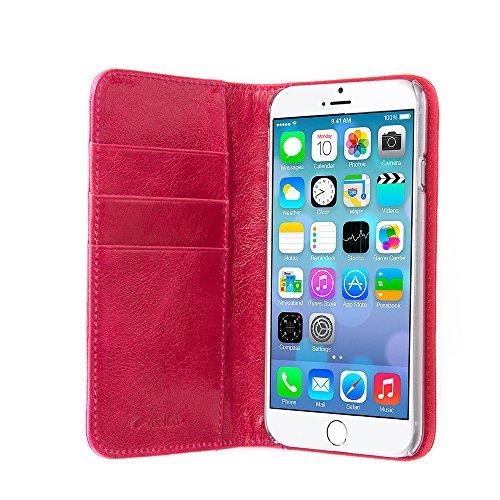 "Melkco Premium Kuh Leder Tasche Heritage Serie Buch Typ Classic Version 2 für Apple iPhone 6 - 4.7 ""Fall (Oliver Pink)"