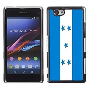 - Flag - - Monedero pared Design Premium cuero del tir¨®n magn¨¦tico delgado del caso de la cubierta pata de ca FOR Sony Xperia Z1 M51W Z1 mini D5503 Funny House