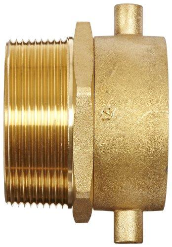 Moon 363-2523061 Brass Fire Hose Adapter, Pin Lug Swivel, 2-1/2'' NH Swivel Female x 3'' NPT Male by Moon (Image #2)
