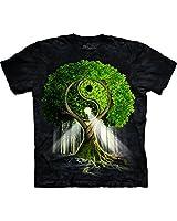 The Mountain Men's Yin Yang Tree T-Shirt Black S
